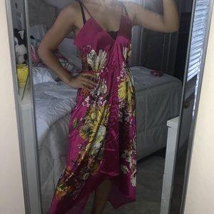 Dresses & Skirts - Hawaiian Silk Satin Maxi Dress